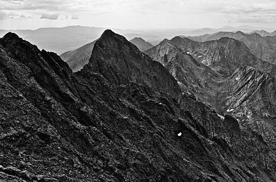 Crestone Photograph - Crestone Needle From Crestone Peak by Aaron Spong