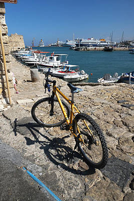 Photograph - Crete Bicycle by John Jacquemain