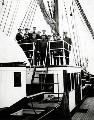 Crew Of Carnegie Research Vessel Art Print
