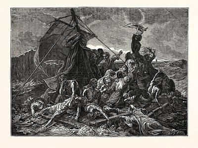 Crew Of The Medusa On The Raft Art Print