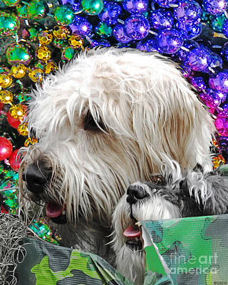 Digital Art - Crewe Of Mutts Mardi Gras Parade Baton Rouge Doggies by Lizi Beard-Ward