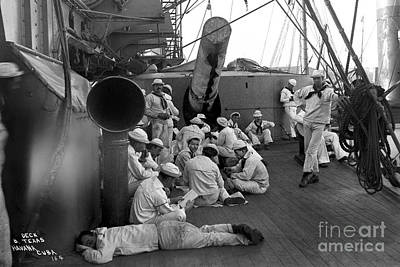 Kids Alphabet Royalty Free Images - Crewmen of U. S. Battleship Texas pose for photo Havana harbor Cuba  1898 Royalty-Free Image by California Views Archives Mr Pat Hathaway Archives