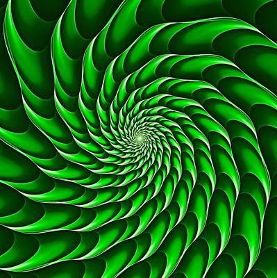 Digital Art - Cricca Nut Vortex Kelly Green by Doug Morgan