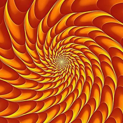Digital Art - Cricca Nut Vortex Sunburst by Doug Morgan