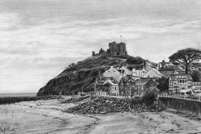 Criccieth Beach Wales Uk Art Print