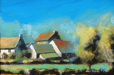 Country Painting - Crich Farm by Neil McBride