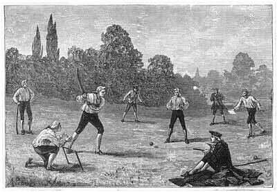 Cricket Drawing - Cricket As Played In The  1770s by Mary Evans Picture Library