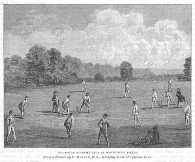 Cricket Being Played At The  Royal Art Print