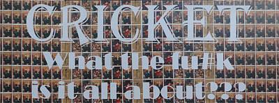 Cricket Mixed Media - Cricket by Gary Hogben