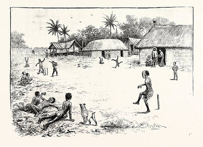 Cricket Drawing - Cricket In India by Indian School