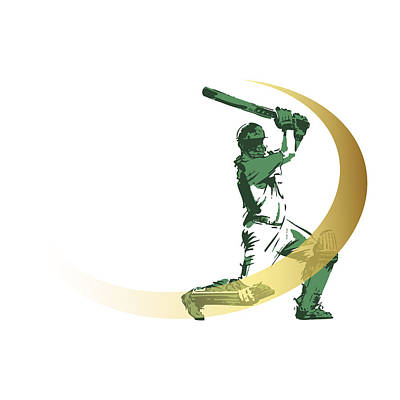 Digital Art - Cricket by Ali ArtDesign