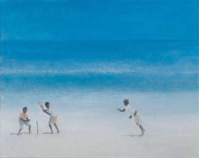 Cricket Photograph - Cricket On The Beach, 2012 Acrylic On Canvas by Lincoln Seligman