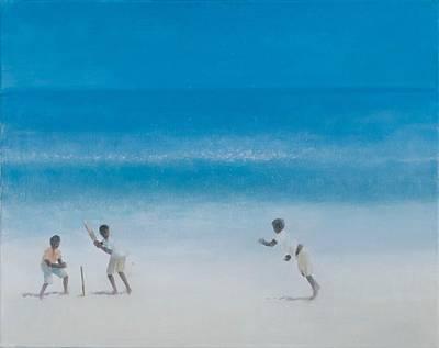 Cricket On The Beach, 2012 Acrylic On Canvas Print by Lincoln Seligman