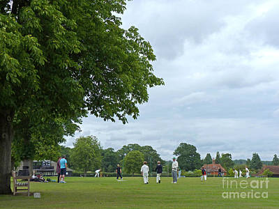 Photograph - Cricket Practice - Village Green by Phil Banks
