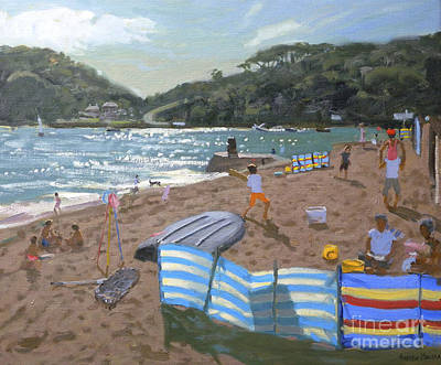 Water Play Painting - Cricket Teignmouth by Andrew Macara