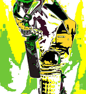Batsman Digital Art - Cricketer by Chris Butler