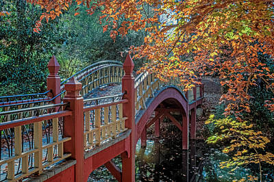 Photograph - Crim Dell Bridge At William And Mary by Jerry Gammon