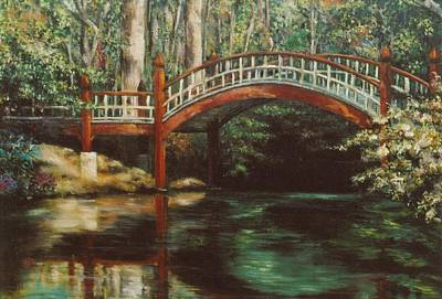 Colonial Williamsburg Painting - Crim Dell Bridge - College Of William And Mary by Gulay Berryman