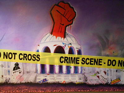 Occupy Painting - Crime Scene Do Not Cross by Justin Malangoni
