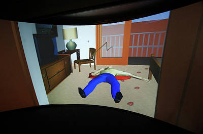 Crime Scene Reconstruction Art Print by Louise Murray/science Photo Library