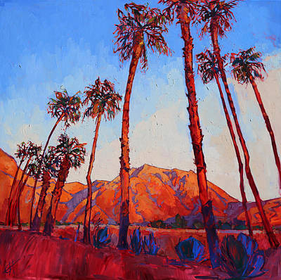 Bright Colors Painting - Crimson Borrego by Erin Hanson