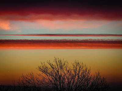 Photograph - Crimson Clouds At Sunrise by James Truett