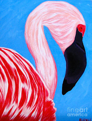 Painting - Crimson Flamingo by Anita Lewis