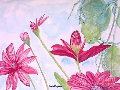 Painting - Crimson Garden by Paula Maybery
