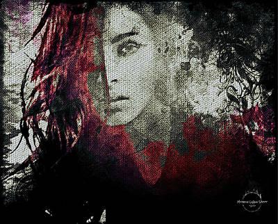 Elven Digital Art - Crimson Gothic And Poe by Absinthe Art By Michelle LeAnn Scott