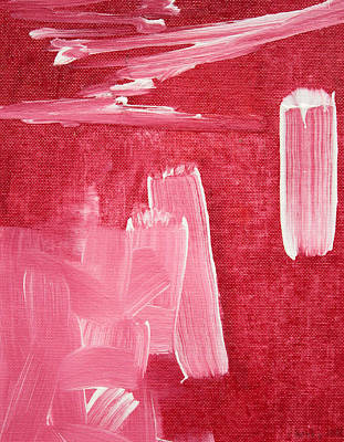 Abstract Painting - Crimson Narrative  C2013 by Paul Ashby