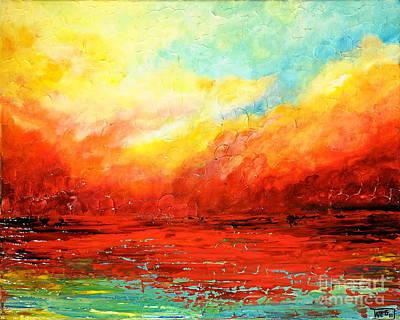 Crimson No.2 Art Print by Teresa Wegrzyn