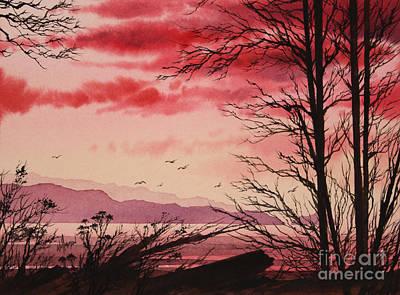 Crimson Shore Art Print by James Williamson