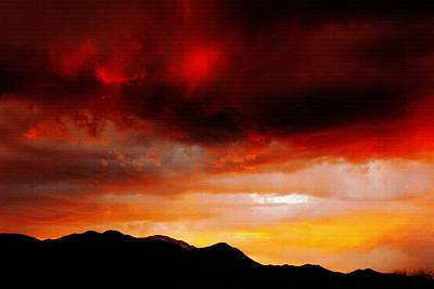 Photograph - Crimson Sunset by Diane Alexander