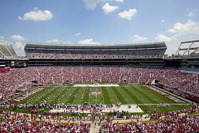 Crimson Tide A-day Football Game At University Of Alabama  Art Print by Carol M Highsmith