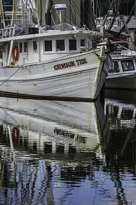 Digital Art - Crimson Tide And Reflection by Michael Thomas