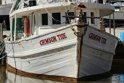 Crimson Tide At Fly Creek Marina Art Print by Lynn Jordan