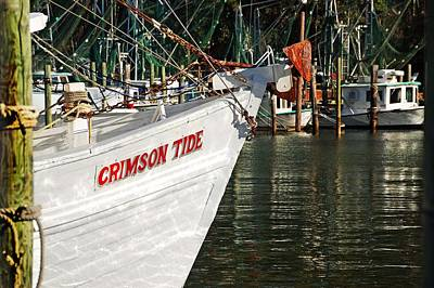 Crimson Tide Bow Art Print by Michael Thomas