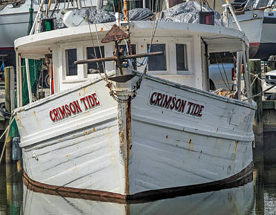 Digital Art - Crimson Tide Headon Cropped  by Michael Thomas
