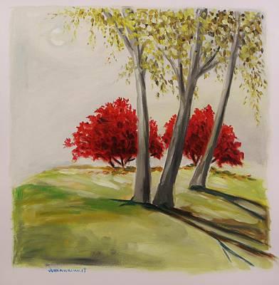 Crimson Twins Art Print by John Williams