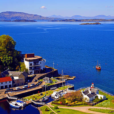 Crinan Harbour Scotland Art Print by Craig B