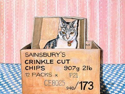 Cardboard Painting - Crinkle Cut Chips by Ditz