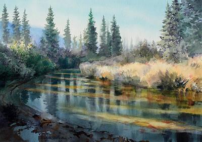 Cripple Painting - Cripple Creek Alaska by Vladimir Zhikhartsev