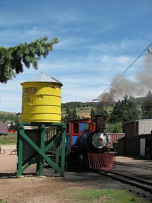 Bi-cycle Photograph - Cripple Creek Train by Steven Parker