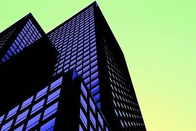 crisp angles NY city Print by Terry Horstman