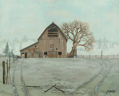 Barbed Wire Painting - Crisp Morning by John Wyckoff