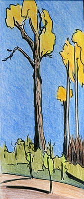 Drawing - Crisp October by Lelia Sorokina