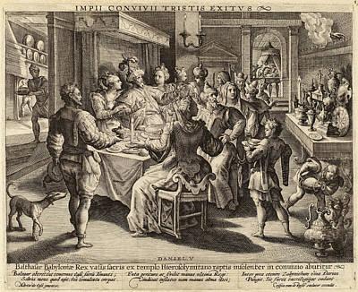 Crispijn De Passe I After Maarten De Vos Dutch Art Print