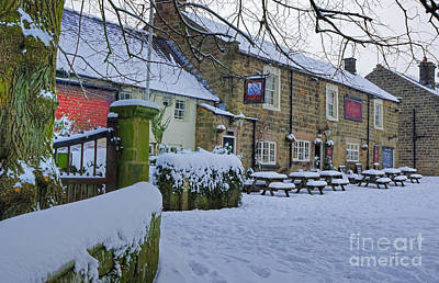 Crispin Inn At Ashover Art Print by David Birchall