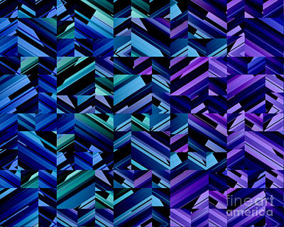 Digital Art - Criss Cross Blues by Kristi Kruse