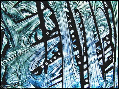 Painting - Criss Cross Lines Abstract Alcohol Inks by Danielle  Parent